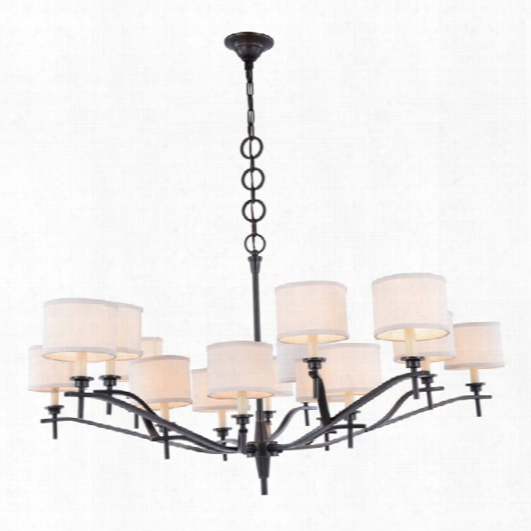 Elegant Lighting Segovia 15 Light Chandelier In Bronze