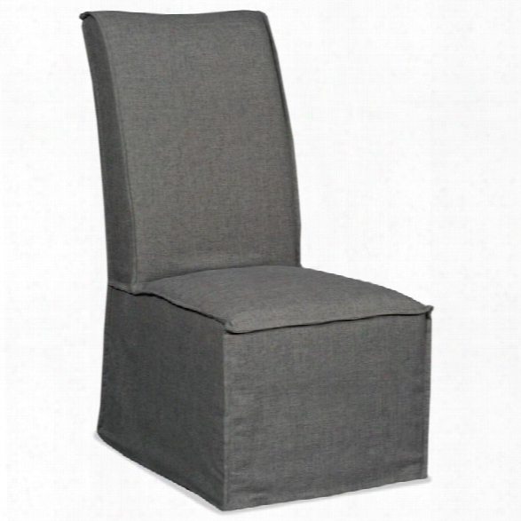 Hooker Furniture Zuma Upholstered Dining Chair In Charcoal