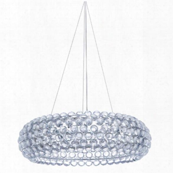 Nuevo Bulle Acrylic Pendant In Silver