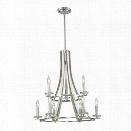 Z-Lite Verona 9 Light Chandelier in Brushed Nickel