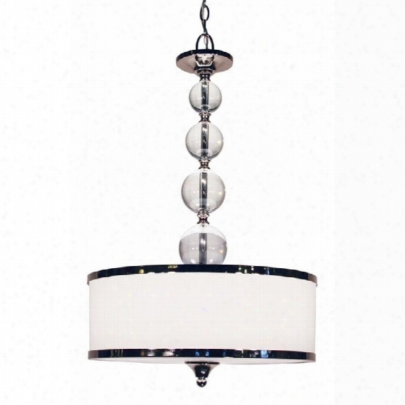 Z-lite Cosmopolitan 3 Light Pendant In Chrome