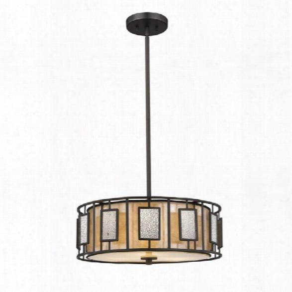 Z-lite Lankin 3 Light Pendant In Bronze