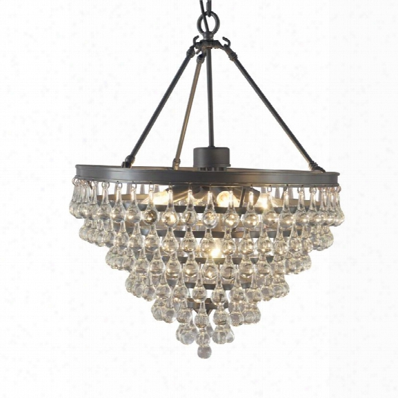 Abbyson Living Preston Crystal Chandelier In Brown
