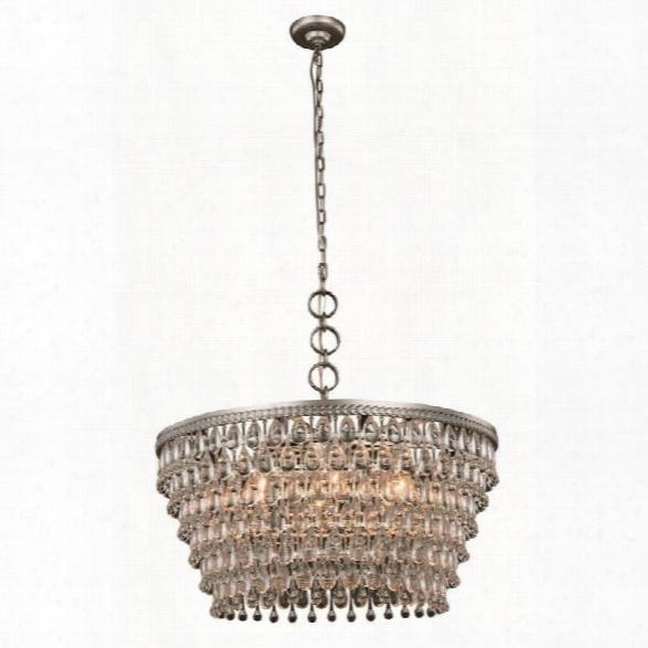 Elegant Lighting Nordic 28 6 Light Royal Crystal Pendant Lamp