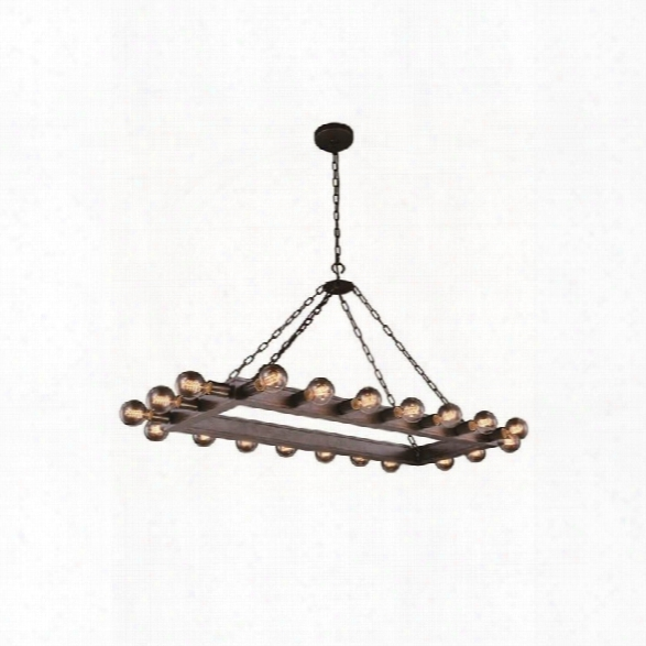Elegant Lighting Winston 21 20 Light Pendant Lamp In Aged Iron
