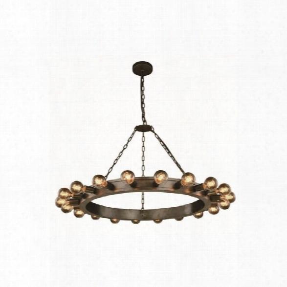 Elegant Lighting Winston 40 20 Light Pendant Lamp In Aged Iron