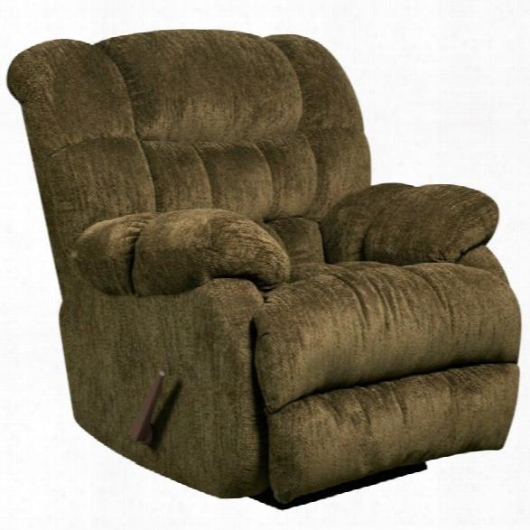 Flash Furniture Columbia Microfiber Rocker Recliner In Mushroom Brown