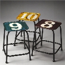 Butler Specialty Industrial Chic 3 Piece Stool Set in Industrial Chic