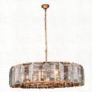 Elegant Lighting Monaco 43 10 Light Glass Crystal Pendant Lamp