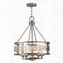 Livex Waverly Chandelier in Palacial Bronze with Gilded Accents