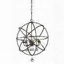 Z-Lite Acadia 6 Light Pendant in Golden Bronze and Clear Crystal
