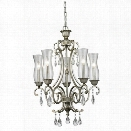 Z-Lite Melina 5 Light Chandelier in Antique Silver