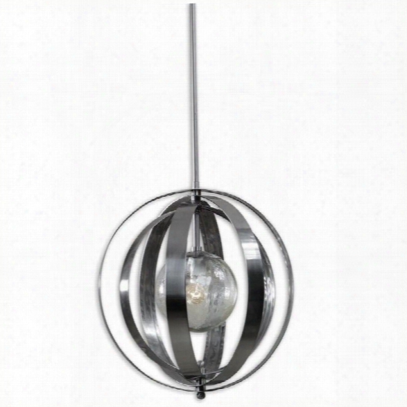 Uttermost Trofarello Silver  1light Polished Nickel Pendant