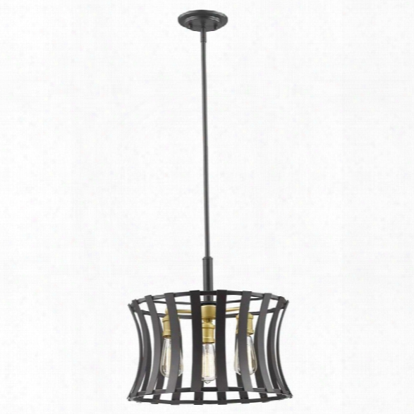 Z-lite Geist 3 Light Pendant In Bronze Gold