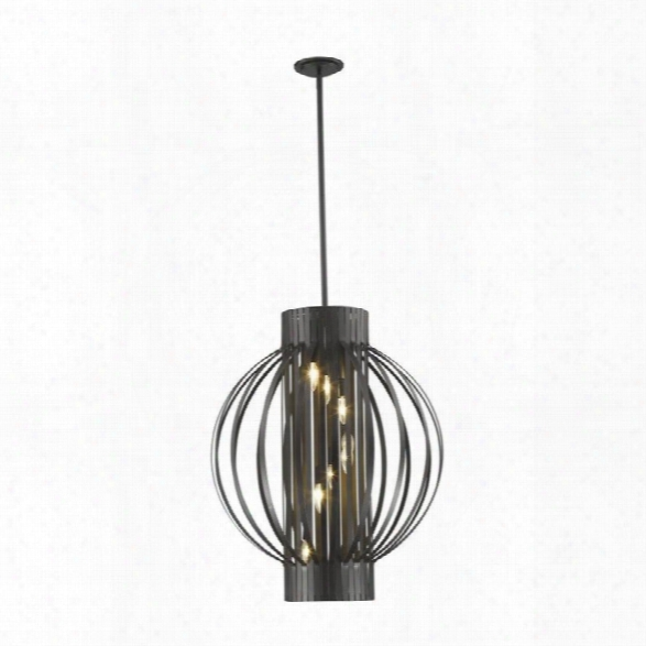 Z-lite Moundou 8 Light Pendant In Bronze