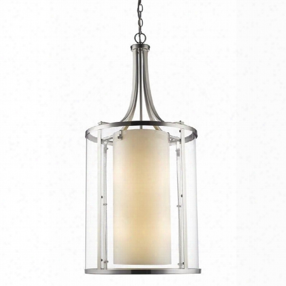 Z-lite Willow 12 Light Pendant In Brushed Nickel