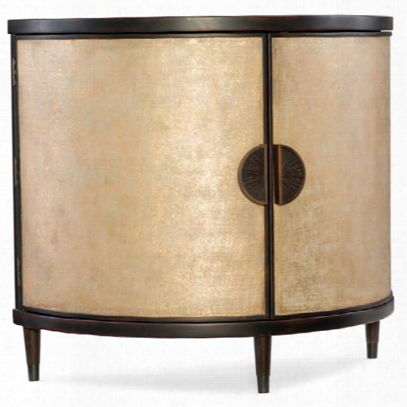 Hooker Furniture Melange Em Demilune Accent Chest In Gold