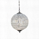 Abbyson Living Marcelle Circular Crystal Chandelier in Bronze