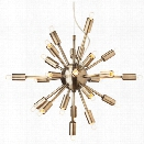 Nuevo Sputnik 24 Light Pendant in Antique Brass