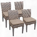 TKC Oasis Patio Dining Side Chair in Wheat (Set of 4)