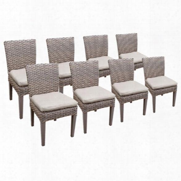 Tkc Oasis Patio Dining Side Chair In Beige (set Of 8)