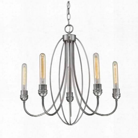 Z-lite Persis 5 Light Chandelier In Clear And Old Silver