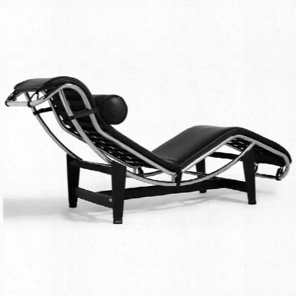 Aeon Furniture Anton Chaise Lounge In Black