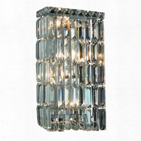 Elegant Lighting Maxime 16 4 Light Elements Crystal Wall Sconce