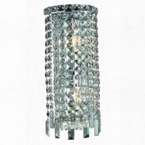 Elegant Lighting Maxime 18 2 Light Elements Crystal Wall Sconce