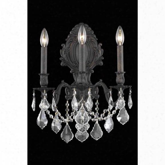 Elegant Lighting Monarch 14 3 Light Spectra Crystal Wall Sconce