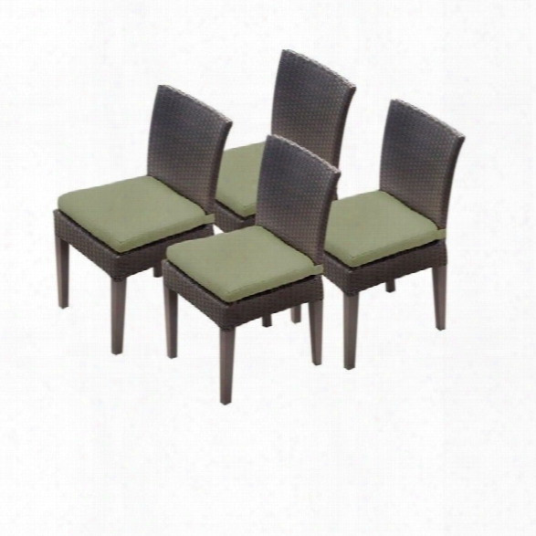 Tkc Nap A Wicker Patio Dining Chairs In Cilantro (set Of 4)
