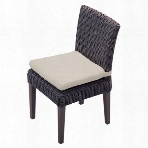 Tkc Venice Wicker Patio Dining Chairs In Beige (set Of 2)
