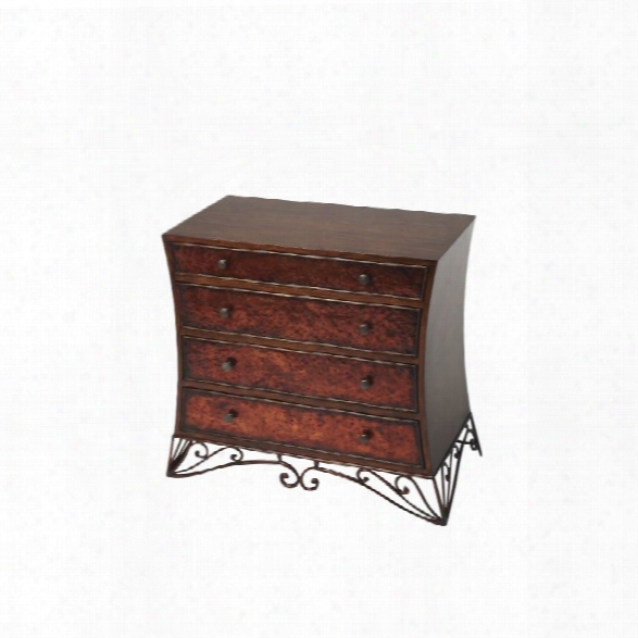 Butler Specialty Heritage 4 Drawer Ccent Chest In Copper