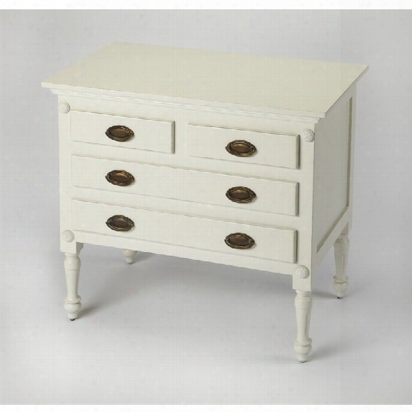 Butler Specialty Masterpiece 4 Drawer Accent Chest In White