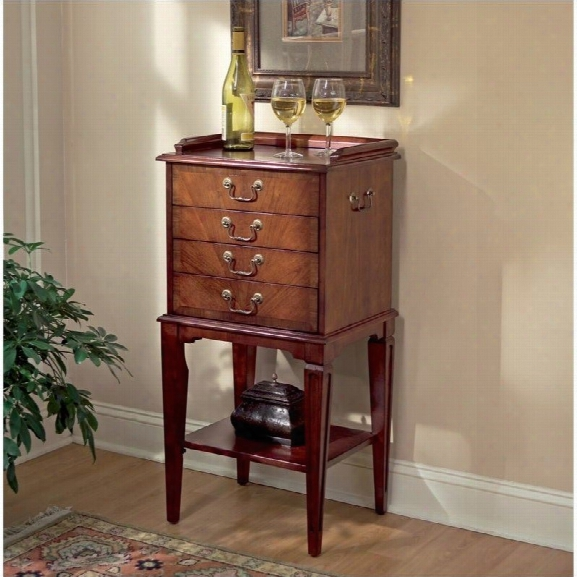 Butler Specialty Silver Accent Chest In Plantation Cherry Finish
