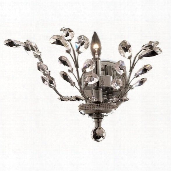 Elegant Lighting Orchid 14 Elements Crystal Wall Sconce In Chrome