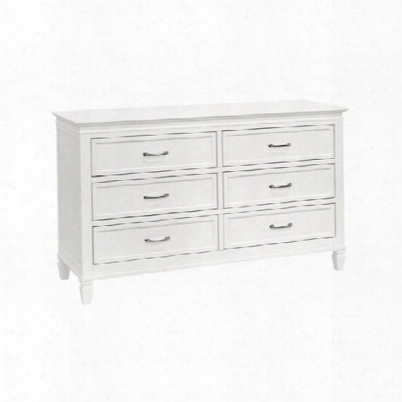 Million Dollar Baby Classic Darlington 6 Drawer Double Dresser In Warm White