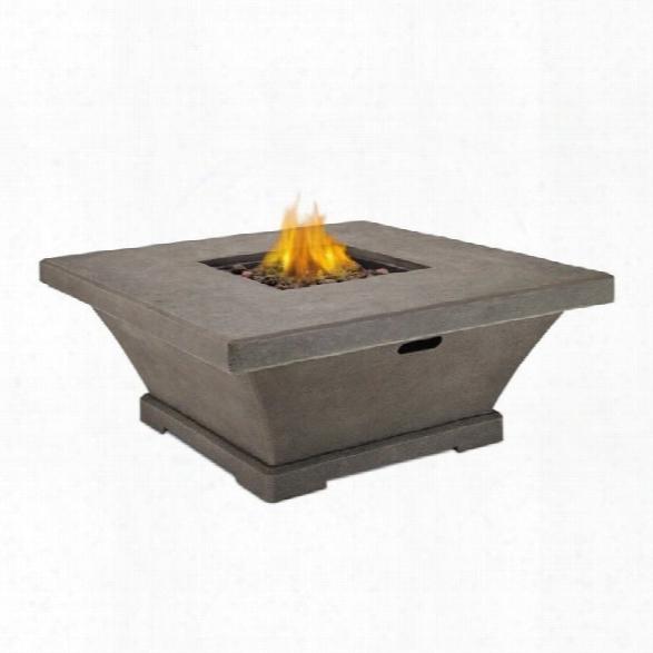 Real Flame Monaco Square Low Propane Fire Table In Glacier Gray