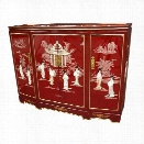 Oriental Furniture Slant Front Accent Chest with Removable Shelf