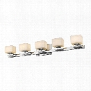 Z-Lite Cuvier 5 Light Vanity Light in Chrome
