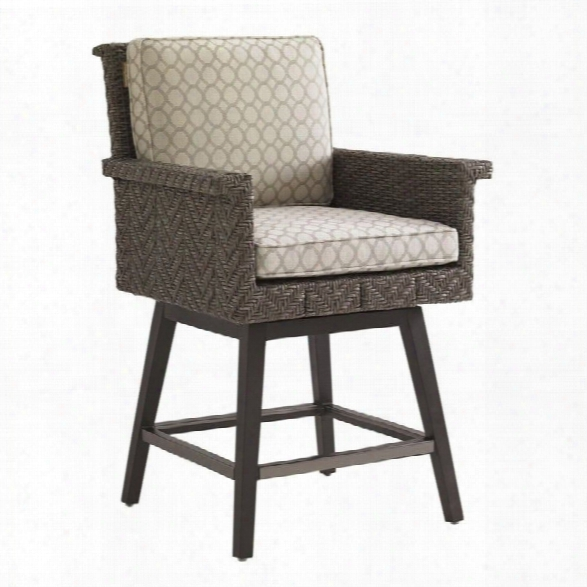 Tommy Bahama Home Blue Olive 41.5 Wicker Counter Stool-taupe
