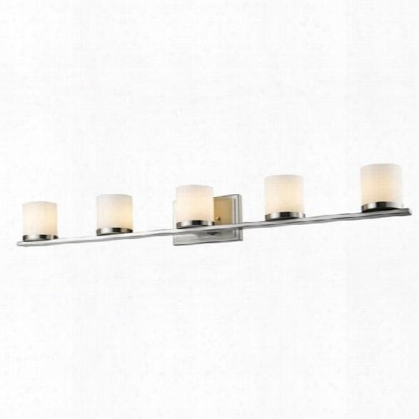 Z-lite Nori 5 Light Vanity Light In Brushed Nickel