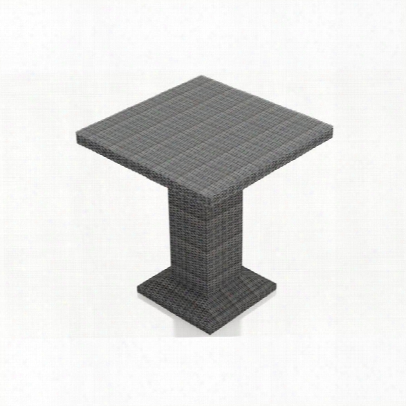 Harmonia Living District Square Patio Pub Table In Textured Slate
