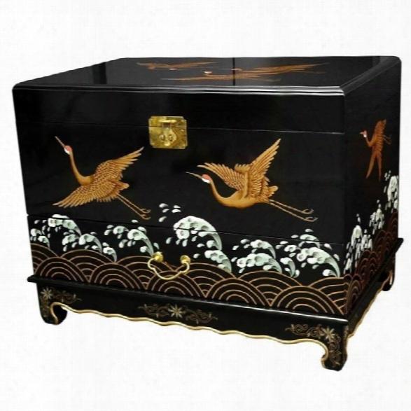 Oriental Furniture Trunk In Black