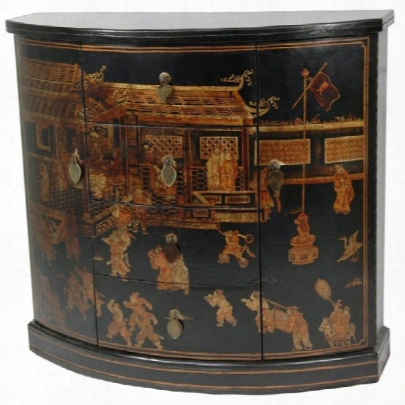 Oriental Furniture Village Market Accent Chest In Black