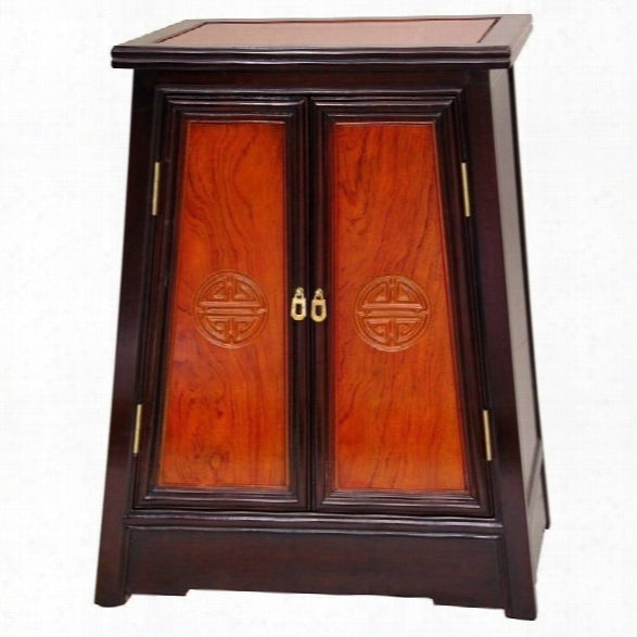 Oriental Long Life Accent Chest In Light And Dark Cherry Stain