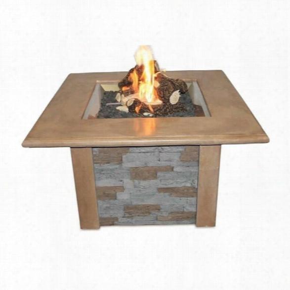 Outdoor Greatroom Company Sierra Firepit Table In Mocha