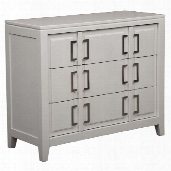 Pri 3 Drawer Accent Chest With Buckle Hardware In Soft White