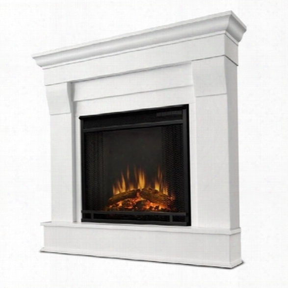 Real Flame Chateau Electric Corner Fireplace In White Finish
