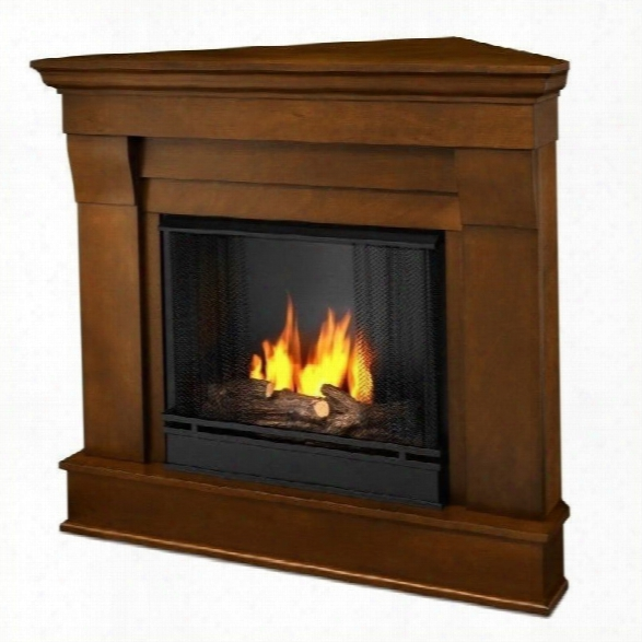 Real Flame Chateau Gel Corner Fireplace In Espesso